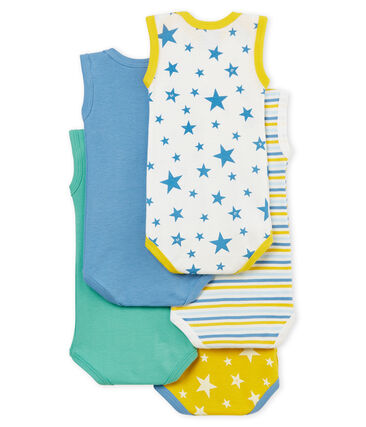 Baby Boys' Short-Sleeved Bodysuit - Set of 5