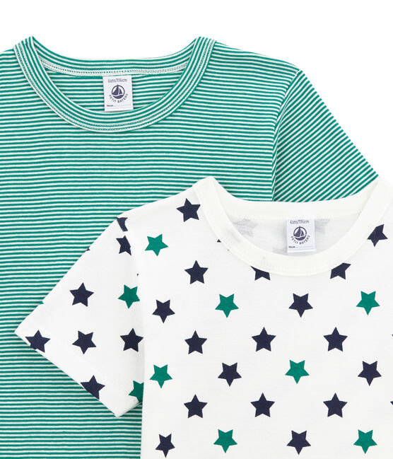 Little boy's short sleeved tee-shirtduo . set