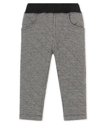 Baby boy's herringbone cotton tubic trousers