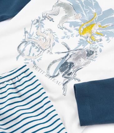 Boys' Pyjamas in Cotton Marshmallow white / Multico white