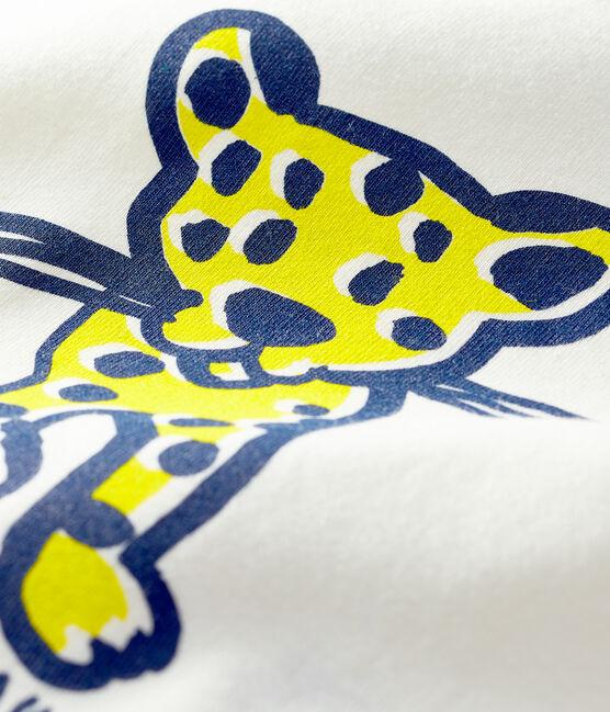 Short-sleeved T-shirt for baby boys Marshmallow white / Jasmin blue