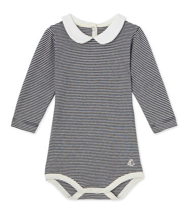 Baby girl's milleraies body with Peter Pan collar