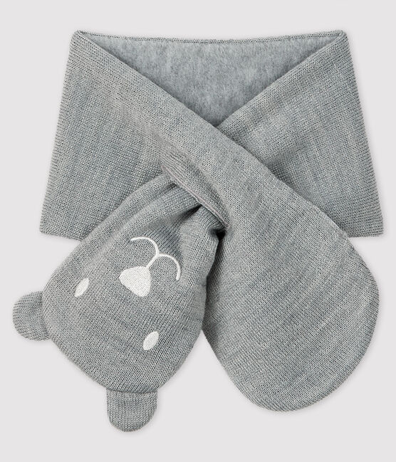 Baby's unisex microfleece-lined scarf Subway grey