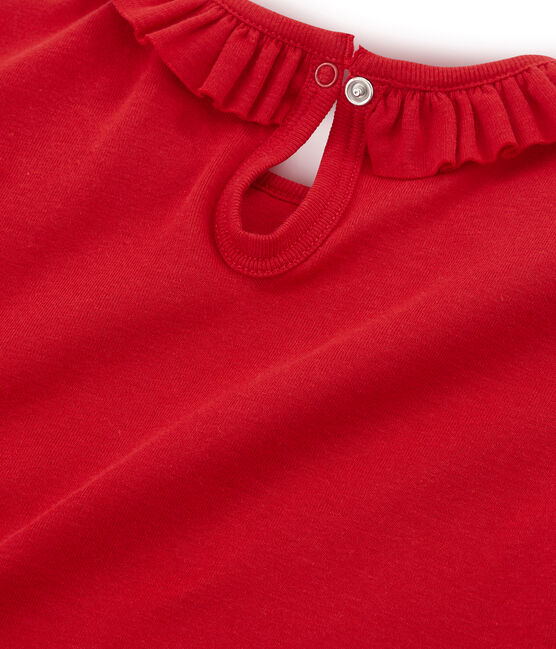 Girls' Short-sleeved T-shirt Terkuit red