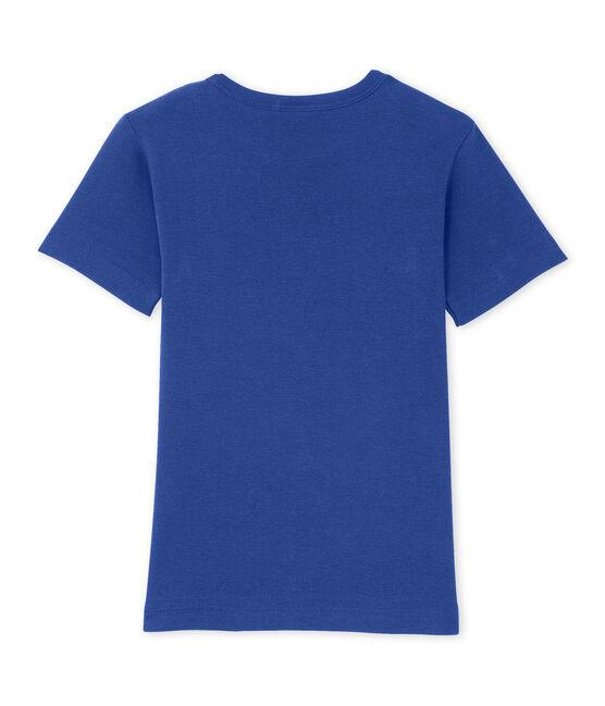Boy's patterned tee Peter blue