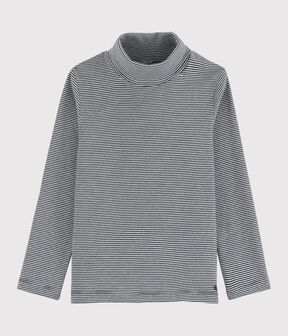 Boys' /Girl's Undershirt Smoking blue / Marshmallow white