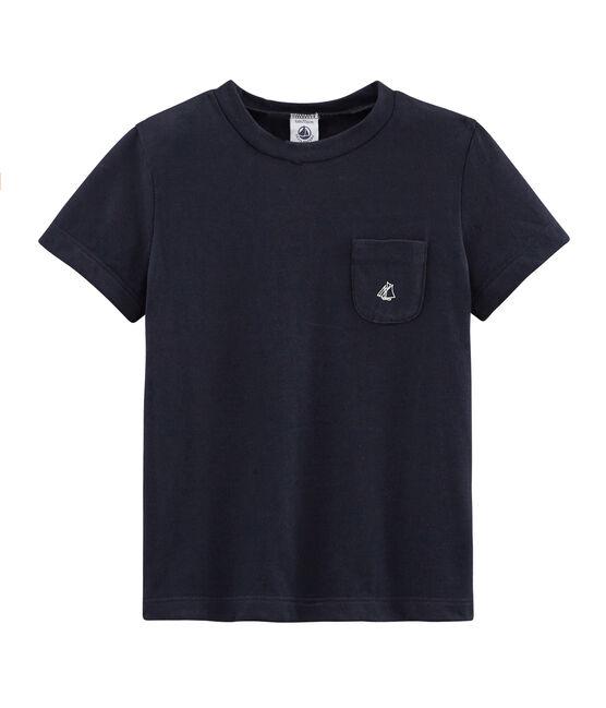 Boys' Short-sleeved T-shirt Smoking blue