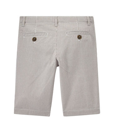 Boys' striped bermuda shorts