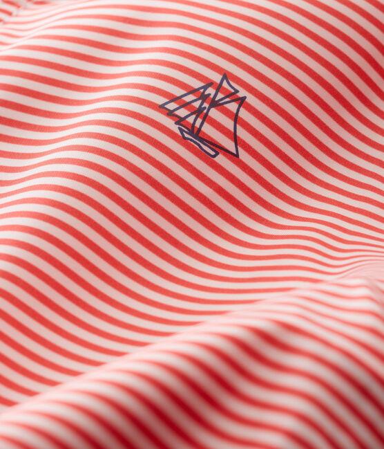 Unisex stripy windbreaker for babies Petal pink / Crystal blue