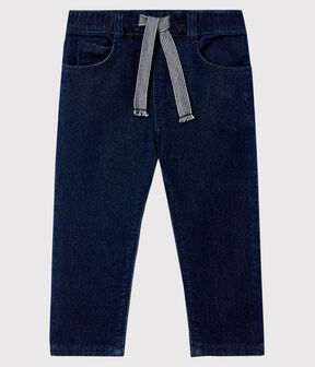 Baby's denim-look knit trousers JEAN