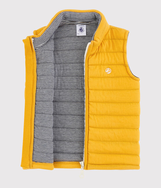 Baby boy's sleeveless jacket Boudor yellow
