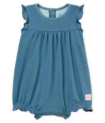 Baby girls' playsuit made of cotton/linen blend