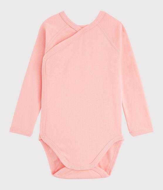 Baby Girls' Long-Sleeved Wrapover Bodysuit Rosako pink