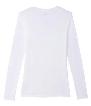 Women's Short-Sleeved V-Neck T-Shirt Marshmallow white