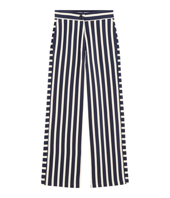 Women's trousers Haddock blue / Marshmallow white