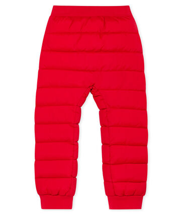 Unisex Child's Down Trousers Terkuit red