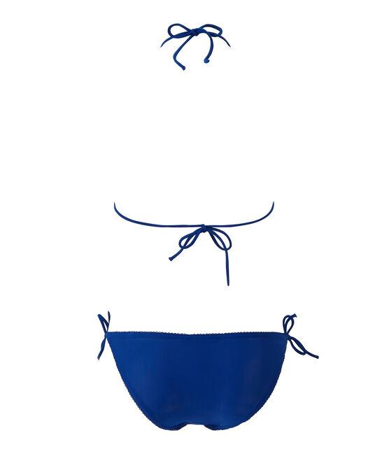 Women's plain bikini Perse blue