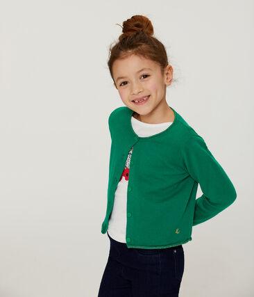 Girls' Knit Cardigan Ecology green