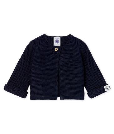 Babies' Cardigan Made Of 100% Cotton Knit Smoking blue
