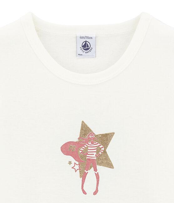 Girl's long sleeved T-shirt Marshmallow white