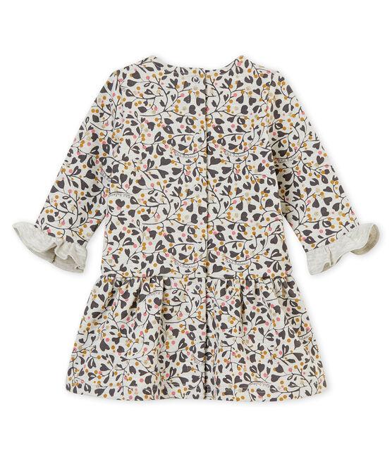 Baby girl's print dress Beluga grey / Multico white