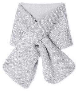 Unisex Baby Fleece-Lined Scarf Subway grey / Marshmallow white