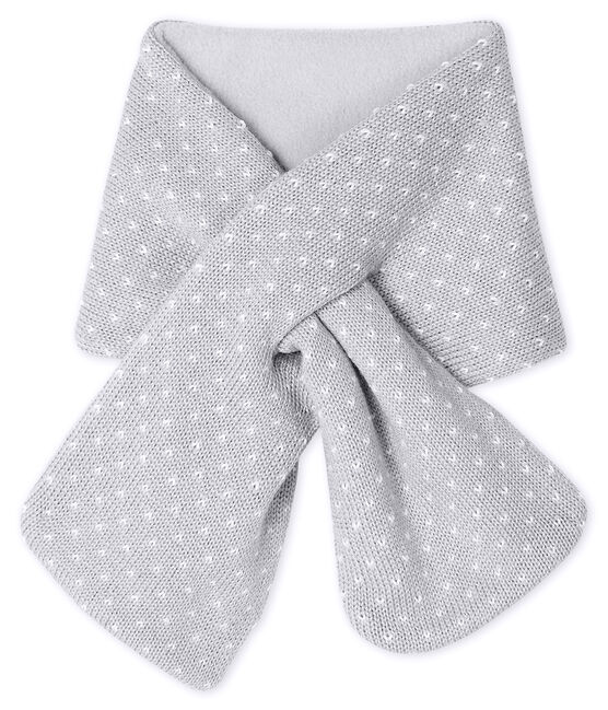 Unisex Baby Fleece-Lined Scarf Subway grey / Marshmallow white
