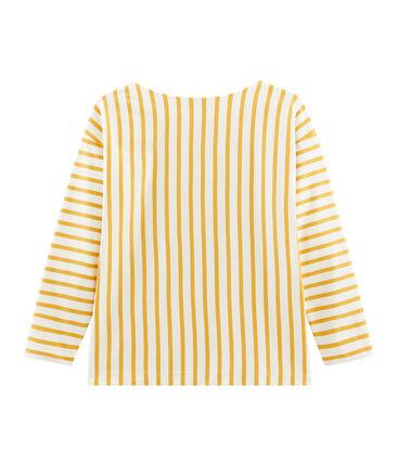 Women's Graphic Sailor Top Coquille beige / Boudor yellow