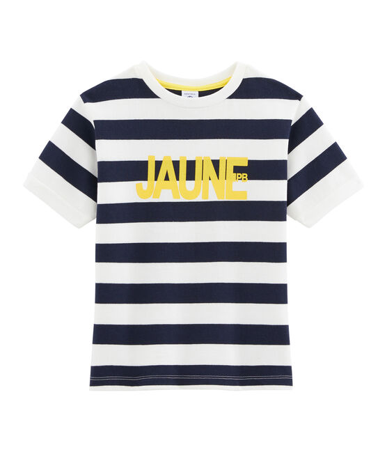 Boys' T-Shirt Smoking blue / Marshmallow white