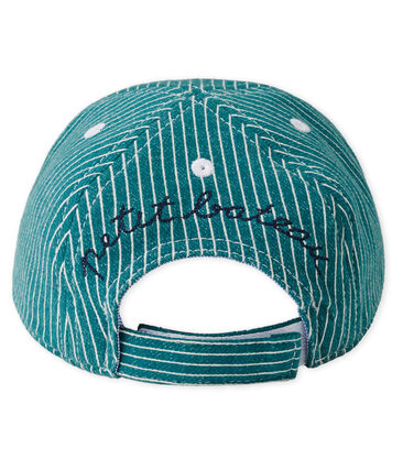 Baby boys' striped cap Olivier green / Marshmallow white
