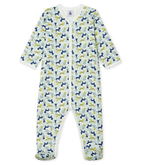 Baby Boys' Fleece Sleepsuit Marshmallow white / Multico white