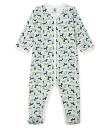 Baby Boys' Fleece Sleepsuit Marshmallow white / Multico white