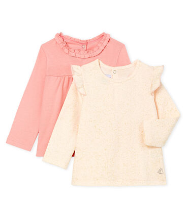 Baby Girls' Long-sleeved T-Shirt - 2-Piece Set . set
