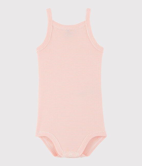 Baby Girls' Strappy Bodysuit Rosako pink / Marshmallow white