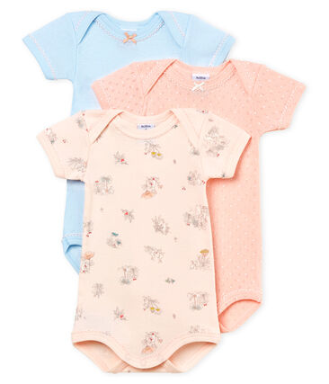 Baby Girls' Short-Sleeved Bodysuit - Set of 3