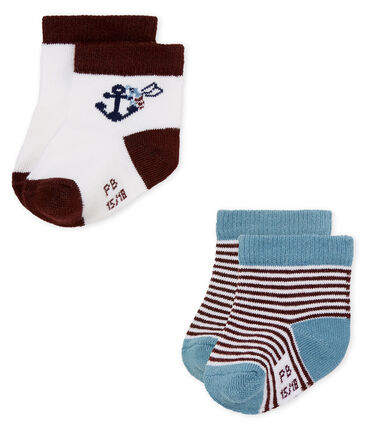 Baby boys' socks - pack of 2 . set