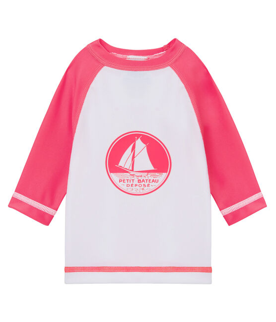 Unisex UV-Proof UPF 50+ T-shirt Marshmallow white / Cupcake pink