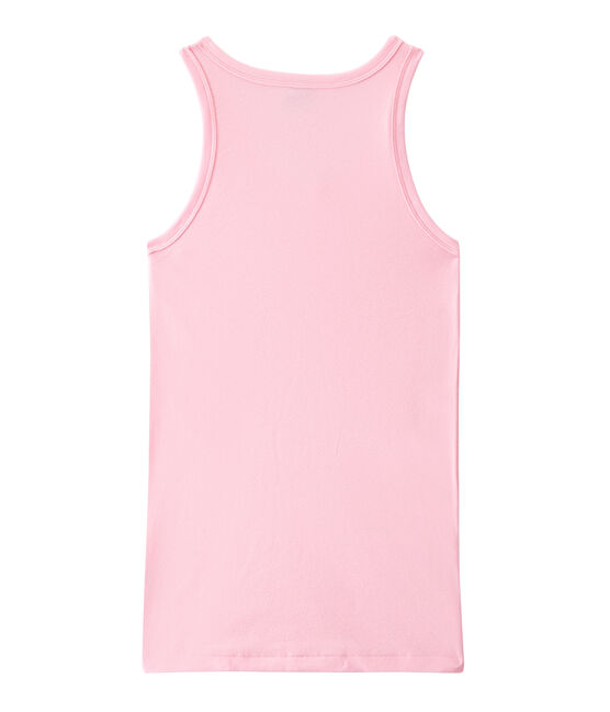 Women's vest top in heritage rib Babylone pink