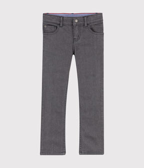 Boys' Denim Trousers GRIS MOYEN