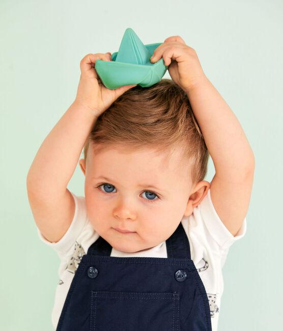 Baby Boys' Short Dungarees Smoking blue