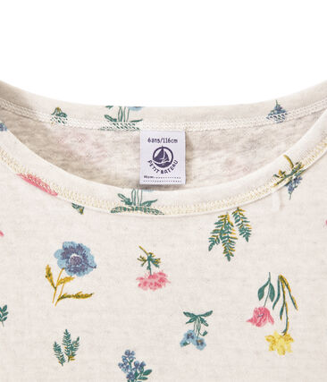 Girl's T-shirt in light print double knit