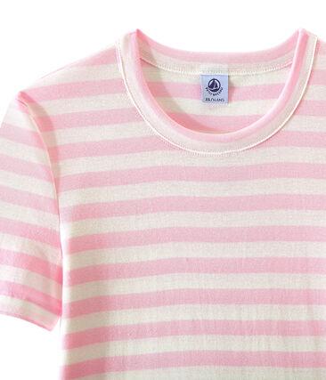 Women's T-shirt in heritage striped rib