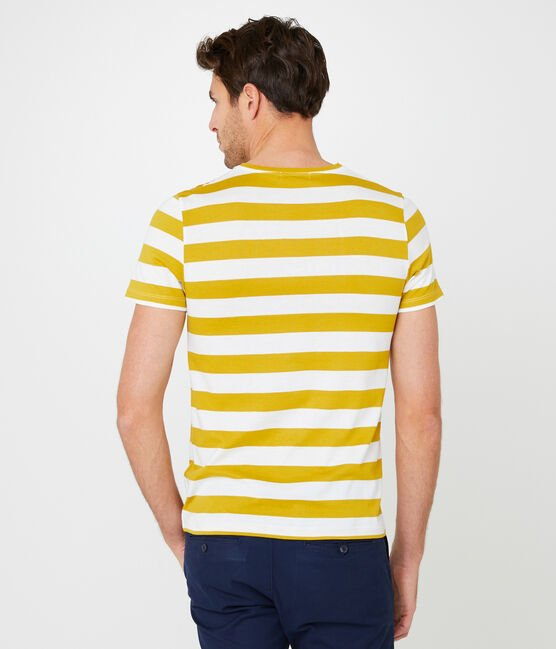 Men's short-sleeved t-shirt Bamboo yellow / Marshmallow white