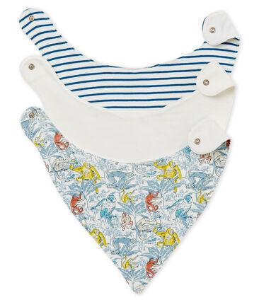 Baby Boys' Bibs in Cotton - Set of 3