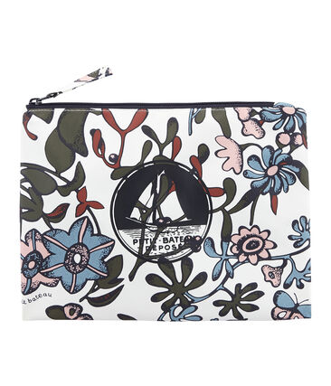 Printed clutch bag