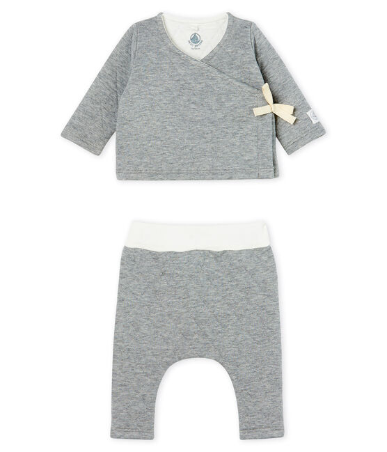 Babies' Tube Knit Clothing - 2-piece set Subway grey