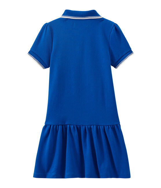 Girl's short-sleeved dress Perse blue