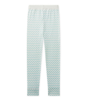 Girl's Mix & Match pyjama bottoms Lait white / Vert green