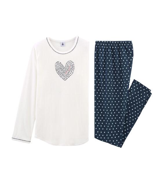 Girls' Pyjamas Haddock blue / Marshmallow white