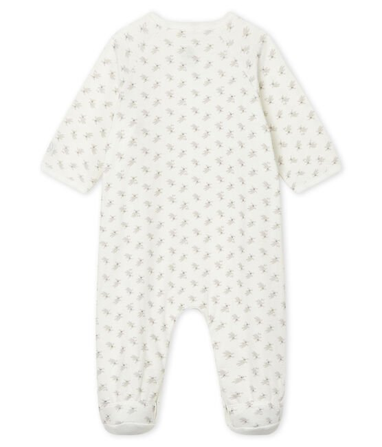 Babies' Tube Knit Sleepsuit Marshmallow white / Multico white